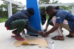 Painting the pedestal