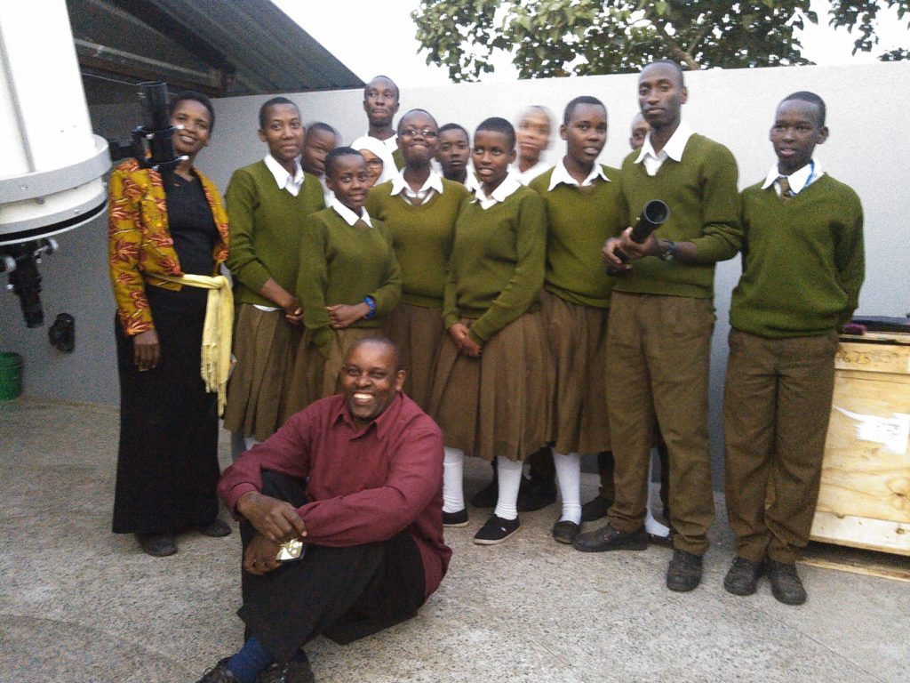 Miley and his secondary school class, August 2019