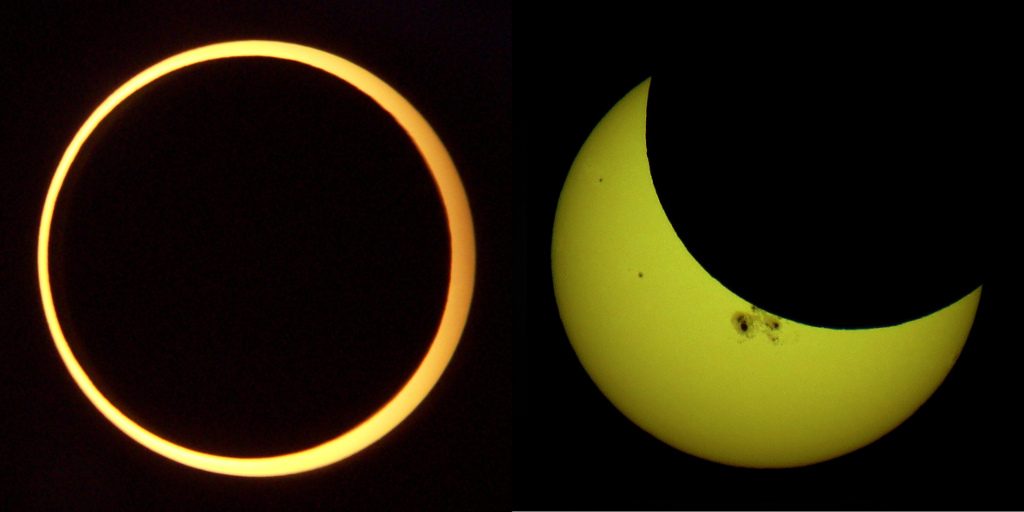 Annular solar eclipse images by Smrgeog and Tomruen