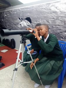 students observing at MMAO